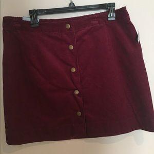 Brand New Old Navy Maroon  skirt.